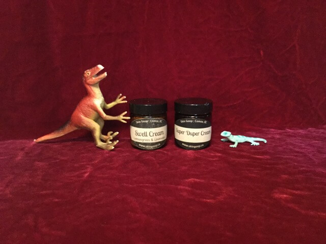 Danny's dinosaur skin needs cream!